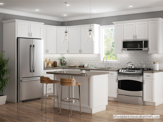 Plymouth White Kitchen Cabinets