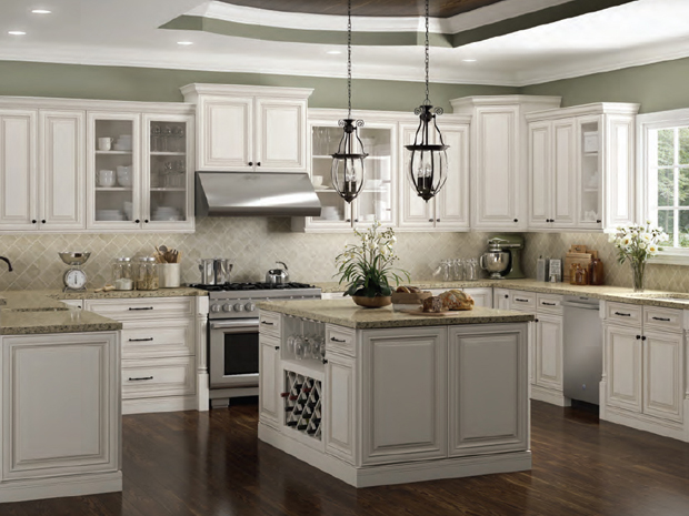 Kitchen Cabinets in Charleston White