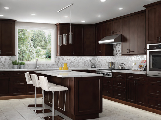 Kitchen Cabinets in Shaker Espresso