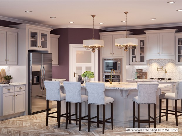 Kitchen Cabinets in Shaker Dove