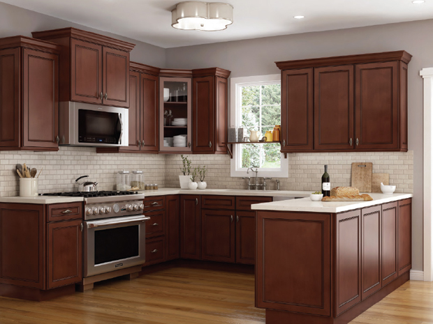 Kitchen Cabinets in York Chocolate