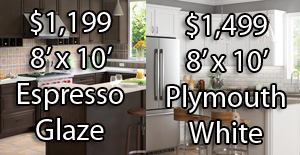$1,199-$1,499 Cabinet Special for 8′ x 10′ Kitchen
