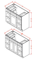 Vanity Double Drawer Base