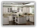 Kitchen Cabinets in Charleston Antique White